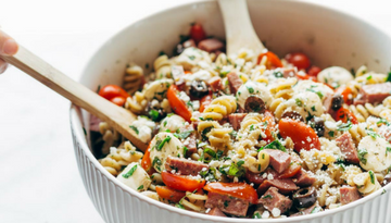 pasta salad prepared in a bowl